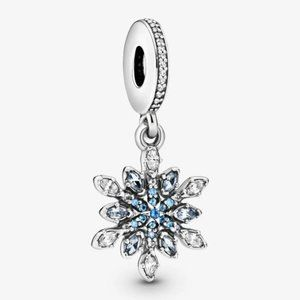PandoraShimmering Snowflake Dangle Ch
